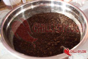 Anzuchterde mit Kaffeesatz für Chili Düngerratgeber