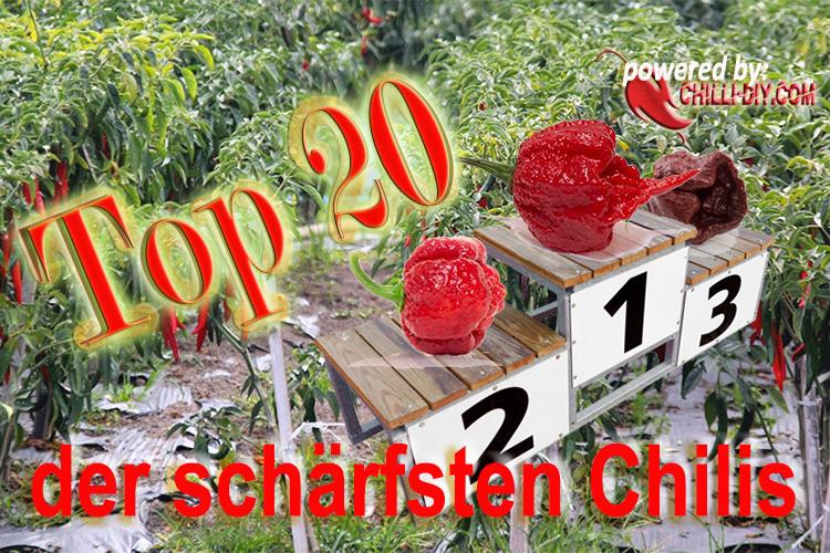 Top 20 schärfste Chilis der Welt